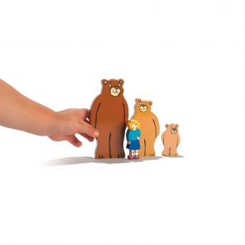 "Goldilocks and the Three Bears wooden figures (2-5"" tall)"