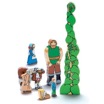 "Jack and the Beanstalk wooden figures (1.5-7"")"