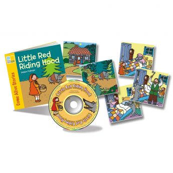 Little Red Riding Hood story book with audio CD and story sequencing cards