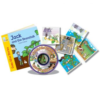 Jack and the Beanstalk story book with audio CD and story sequencing cards