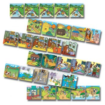 """Traditional tales picture sequencing cards (5"""" x 5"""")"""