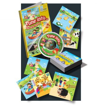 Tune into… Nursery Rhymes - audio CD and illustrated rhyme cards