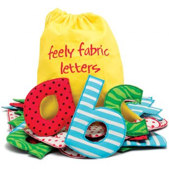 Feely Fabric Letters - tactile lowercase alphabet