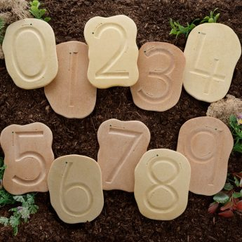 "Feels Write Number Stones - 10 stones (approx 5"")"