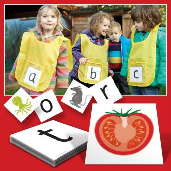 6 active learning vests and abc card set for active learning fun