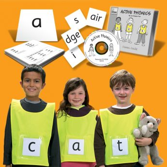 6 active learning vests and phonics cards for learn to read fun