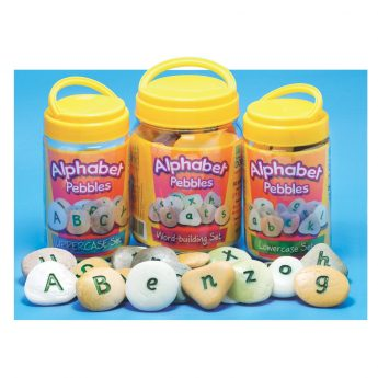 Alphabet Pebbles - upper case, lower case and word building tactile letters. 1.2 - 1.8 inches