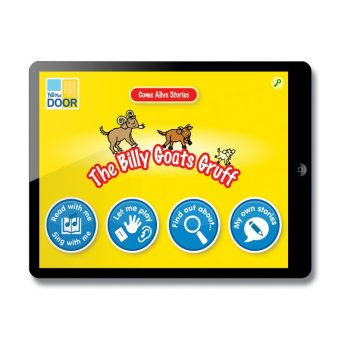 The Billy Goats Gruff Interactive Story and games app
