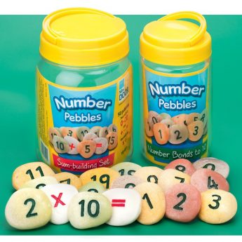 Number pebbles - choose from number bonds (22 pebbles) or sum building set (50 pebbles)
