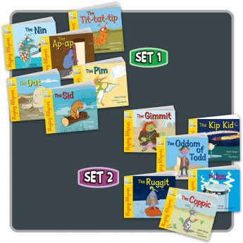 Ragtag Rhymes Sets 1 and 2 includes two pack of six picture books.