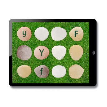 Interactive app to consolidate understanding of lowercase and uppercase letters